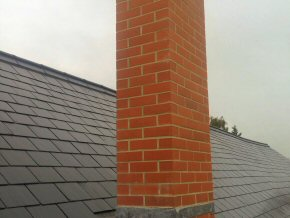 New chimney and new roof at Payhembury School.