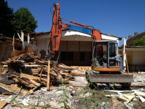 Demolition at 'The Chestnut Tree', Taunton.